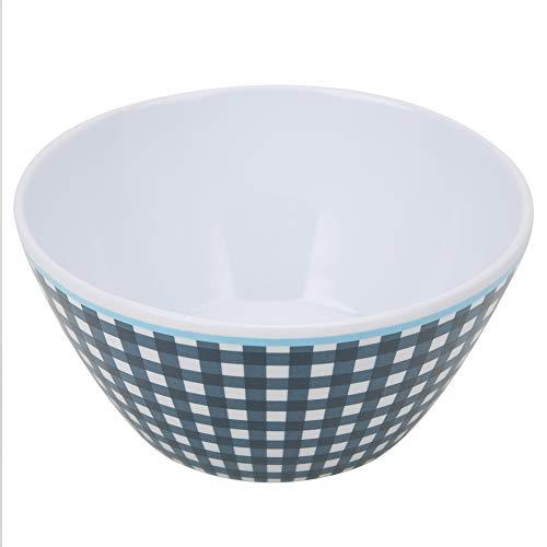 Changor Cereal de Porcelana Fina, Placa de Ensalada de Alimentos ordinarios con Ensalada de Alimentos de melamina para la Sopa de Ensalada