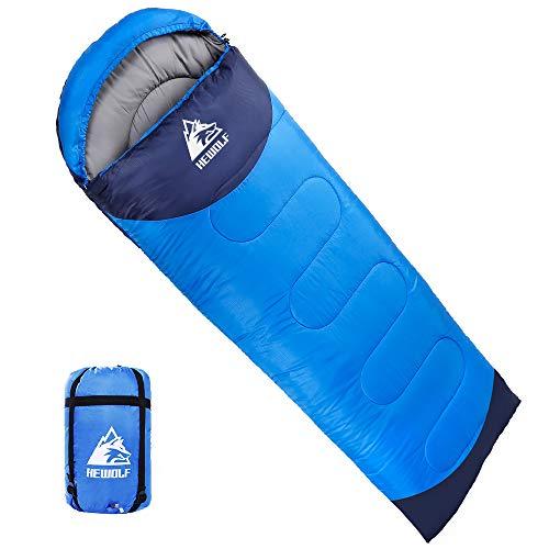 Hewolf Sleeping Bag 4 Season Warm & Cool Weather Waterproof Lightweight Compact Sleeping Bags for Adults and Kids,Hiking Backpacking Camping