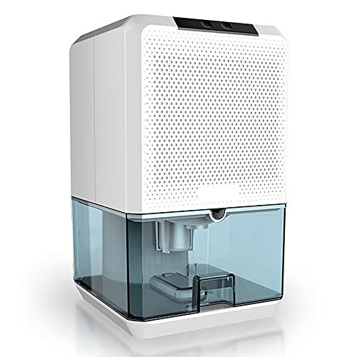HXBH Deumidificatore 1500mL Deumidificatore Portatile Silenzioso Deumidificatore Smart Touch è adatto per la deumidificazione in spazi inferiori a 15 metri quadrati/bianca