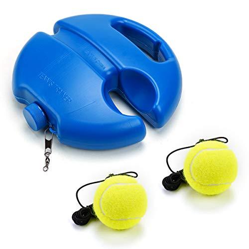 PROVO Tennis Trainer, Tennistrainer Set Trainer Baseboard mit 2 Rebound Ball, Tennis Selbststudium Praxis Training Tool für Anfänger Kinder Erwachsene