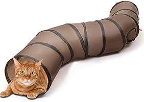 猫 おもちゃ 猫トンネル キャットトイ ネコ用品 水洗い可能 折りたたみ式 収納便利 S型 2穴付きキャットトンネル 長いネコトンネル 猫遊び ストレス発散 運動不足 対策 ペット玩具 ペット用品
