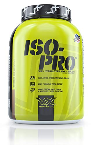 VitaXtrong Iso-Pro 100% Whey Protein Isolate Powder- 27g Fast Acting Hydrolyzed Whey Protein Isolate | Keto-Friendly | Lactose & Gluten Free | Lean Mass Gainer | Chocolate Cake Batter, 66+ Serv