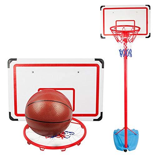 ZHENAI Basketballkorb Mit Ständer Outdoor,Einstellbare Basketballständer, 180-300cm Basketballkorb mit Ständer Höhenverstellbar Basketball-Backboard Ständer