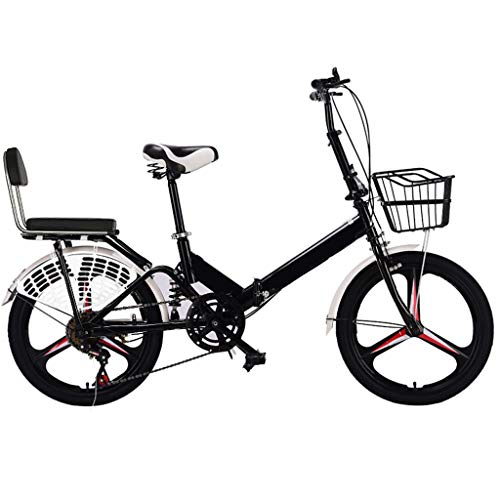 Affordable TXTC Womens Bike with Magnesium Alloy Wheels,Backrest,Fender,Iron Basket Folding Bike Bic...