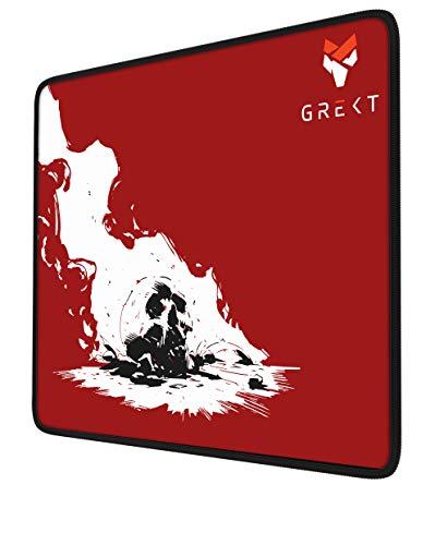 GREKT XL Gaming Mauspad | Geräusch hemmend | verbessert Präzision und Geschwindigkeit | Antirutschmatte | XXL Mousepad Gaming | Komfort Mousepad 440 x 350 mm | 3mm Höhe | Schwarz/Black