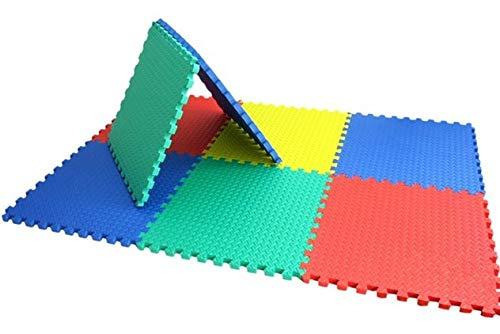 ML Alfombra Puzzle para Bebe, Esterilla Puzzle de Fitness | Alfombrilla Protectora Expandible de 6 Losas + Bordes, Proteccion del Suelo de la habitacion niños y niñas 6pcs 120x80 / 40cm Cada Pieza