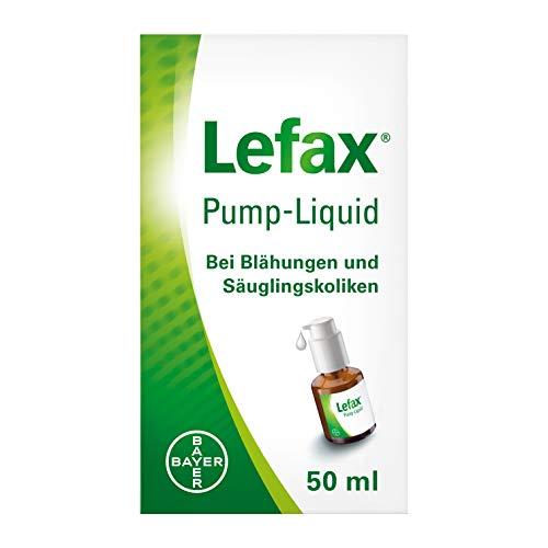 Lefax Pump-Liquid löst Babys Luftbläschen im Bauch, bei Blähungen und Säuglingskoliken, mit praktischer Dosierpumpe, für Schwangere und Stillende geeignet, 50 ml, 1 Stück