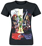The Legend of Zelda Nintendo Legend Zelda Women's Ocarina of Time Cast Print T-Shirt Camiseta, Negro, L para Mujer