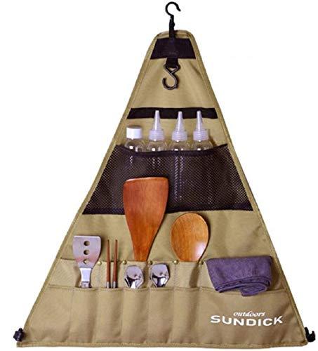 WSNFQ Aufbewahrungstasche für Picknickgeschirr im Freien, tragbarer Camping-Picknickkocher, Aufbewahrungstasche für Grill (DREI Größen) (Großes Dreieck)