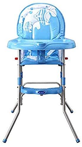 Bcaer Cena de la Silla Infantil de bebé Portable alimentación Alta Silla Antideslizante niño Plegable Silla de Comedor,Blue