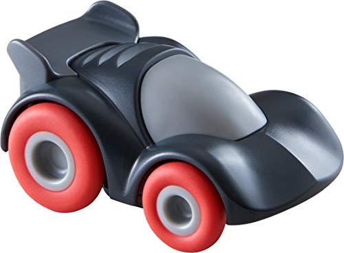 HABA 305560 - Kullerbü – Antrazitfarbender Sportwagen, Rennauto ab 2 Jahren mit Schwungmotor, Zubehör für die Kullerbü-Bahn und zum freien Spielen, Kullerbü Auto mit Schwungmotor