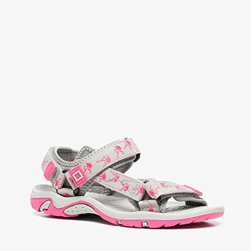 Blue Box meisjes sandalen met flamingo's - Grijs