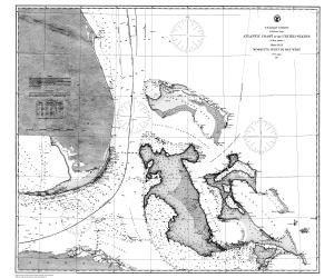 Historische Seekarte cp939C: FL, Mosquito Einlass zu Key West Jahr 1863VON oceangrafix