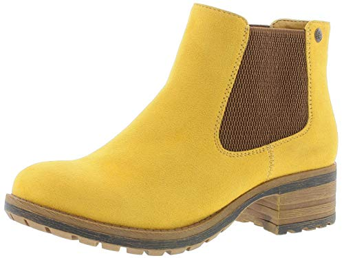 Rieker Damen Stiefel 96884, Frauen Winterstiefel, leger Winter-Boots halbschaftstiefel gefüttert warm weibliche,mais,37 EU / 4 UK