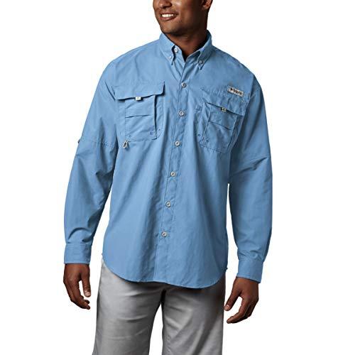 Columbia Men's PFG Bahama II Long Sleeve Shirt , Sail, Large