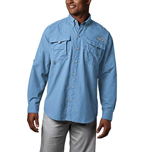 Columbia Men's PFG Bahama II Long Sleeve Shirt , Sail, Large