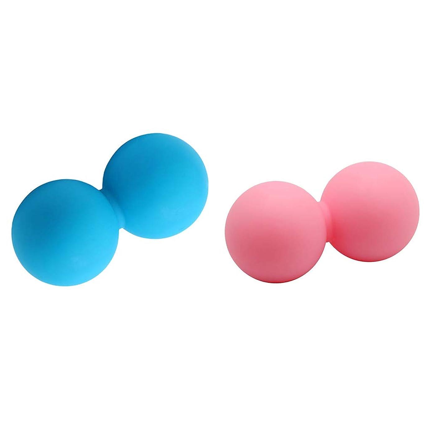 興奮する嘆く乞食FLAMEER 2個 マッサージボール ピーナッツ ダブルラクロスマッサージボール 筋膜リリース 家庭、オフィス旅行