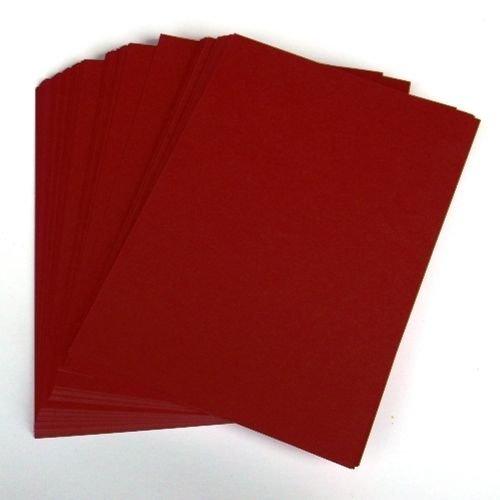 A4Wein rote Karte Lager X 50Blatt, 240gsm (297mm x 210mm)–Stella Crafts