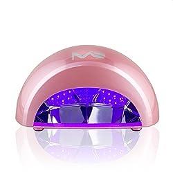 MelodySusie® 12W Violette LED Nageltrockner 30s Nageldry Aushärtung Lichthärtegerät für LED Gel & Gelish Nagellack mit Timer, Rosa