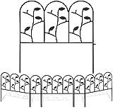 Amagabeli 46CM x 214CM Recinzione Giardino in Metallo Staccionata Giardino Design Bello Ro...