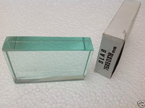 HTC Instrument HTC_GLS Optical Glass Slab DIY Refraction Slabs Equilateral Prism 75x50x18 mm size by Supreme Traders Supertronics1989
