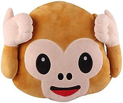 Amazon.com: SoundsBeauty Lovely Funny Emoji Monkey Pillow ...