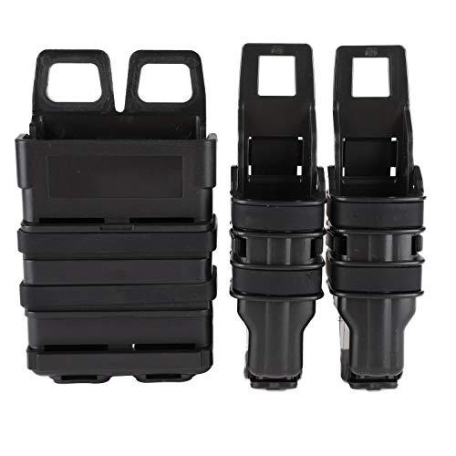 XBF-Clips, For táctica 5,56 mm M4 M16 FastMag Pistola Revista Bolsa Molle Clip Militar de Airsoft de la caz AK AR rápido mag Funda (Color : Negro)