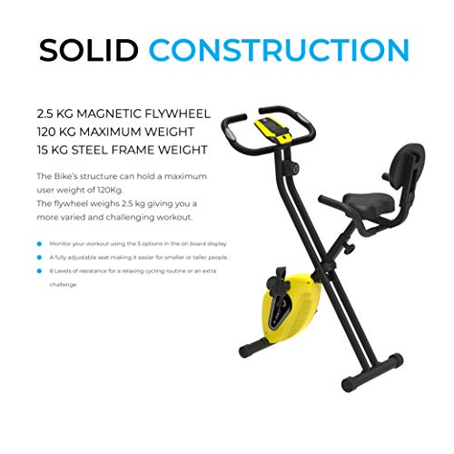 Fit4home ES893 Bluetooth Connectivity Exercise Bike Folding Fitness Gym Home Workout Bike