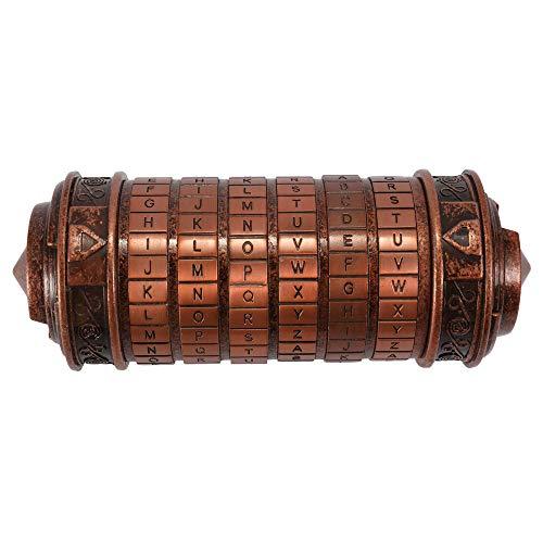 Blusea Caja de Regalo San Valentín para Hombre/Mujer, da Vinci Cerradura Cilíndrica de Código, Metal Cryptex Regalo Boda Contraseña