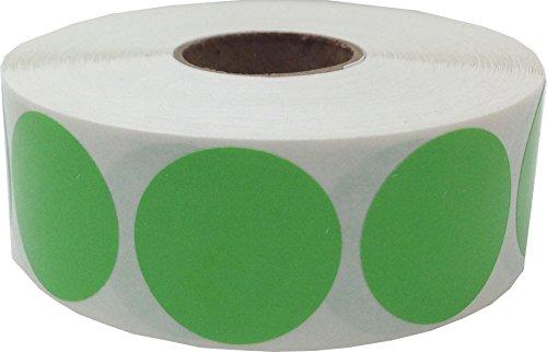 Hellgrüne Kreis Aufkleber, 25 mm 1 Zoll Punkt Etiketten 500 Packung