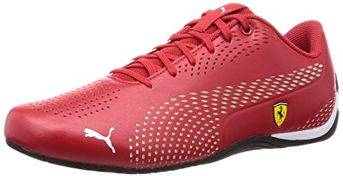 PUMA Ferrari Drift Cat 5 Ultra II Sneaker Rosso Corsa-Puma White UK 9_Adults_FR 43