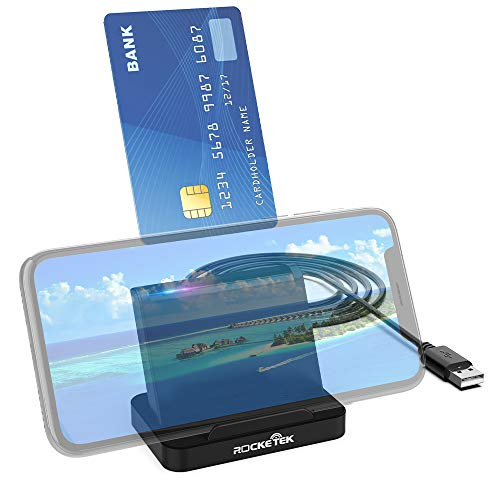 Lector de tarjetas inteligentes USB DOD Military USB Common Access CAC/SIM Card Lector de tarjetas de memoria multifunción con función de soporte para Phone móvil,for Windows XP/Vista/7/8/10,Mac OS