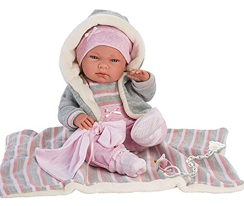 Llorens 73858 Babypuppe Nica, 38 cm, beige