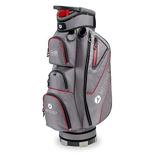 Motocaddy 2020 Club Serie 14-Wege-Regenhaube, leicht, strapazierfähig, Golftasche, Charcoal/Rot, Einheitsgröße