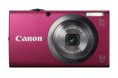 Canon PowerShot A2300 Digitalkamera (16 MP, 5-fach opt. Zoom, 6,9cm (2,7 Zoll) Bildschirm, bildstabilisiert) pink