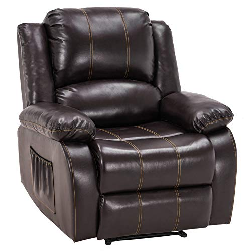 VINGLI Recliner Chair for Living Room PU Leather Recliner Heavy Duty...