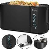 Balter Toaster 4 Scheiben ✓ Brötchenaufsatz ✓ Auftaufunktion ✓ Brotzentrierung ✓ Krümelschublade ✓ Edelstahlgehäuse ✓ Farbe: Schwarz