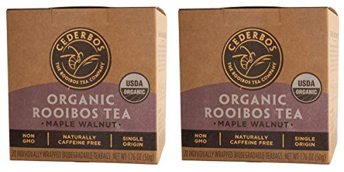 Organic Rooibos Maple Walnut Tagged Teabags, Cederbos(2x20 teabags)