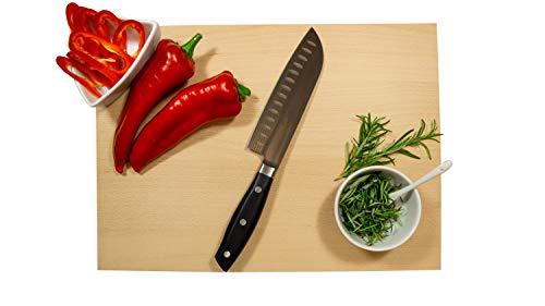 HOMIDEA Luca Tagliere da Cucina in Legno di faggio Massiccio - di Ottima qualità in Europa