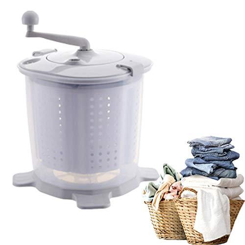 hanyaqi Lavadora compacta no eléctrica, lavadora manual portátil y secadora de centrifugado, bellamente diseñado y potente, adecuada para dormitorio, apartamento, camping y lavandería.