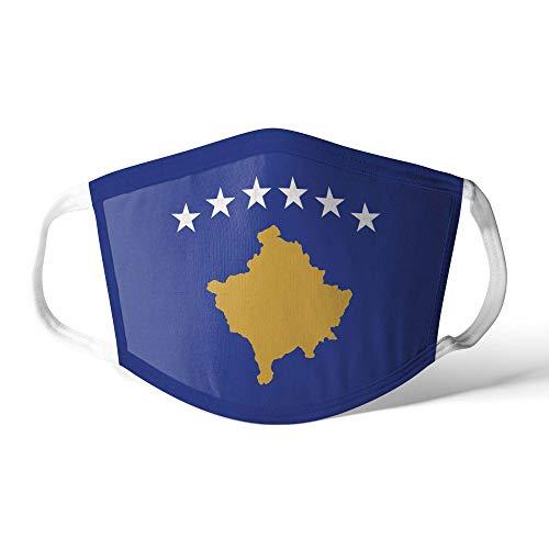 M&schutz Maske Stoffmaske Klein Europa Flagge Kosovo/Kosovan Wiederverwendbar Waschbar Weiches Baumwollgefühl Polyester Fabrik