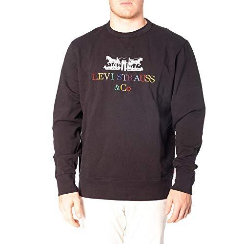 Levi's® Herren Sweatshirt Graphic Crew Animal Miner schwarz (15) L