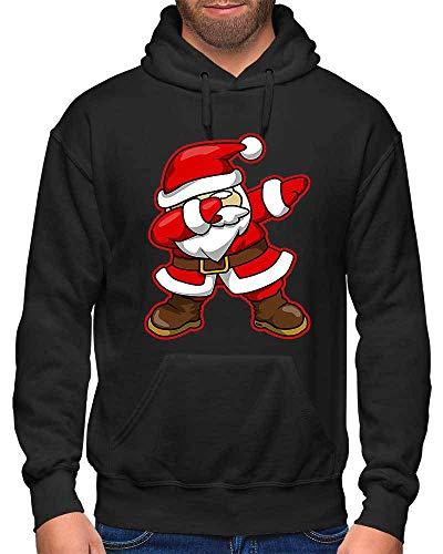 HARIZ Herren Hoodie Dab Weihnachtsmann Nikolaus Weihnachten Dab Dabbing Tanzen Halloween Inkl. Geschenk Karte Schwarz L