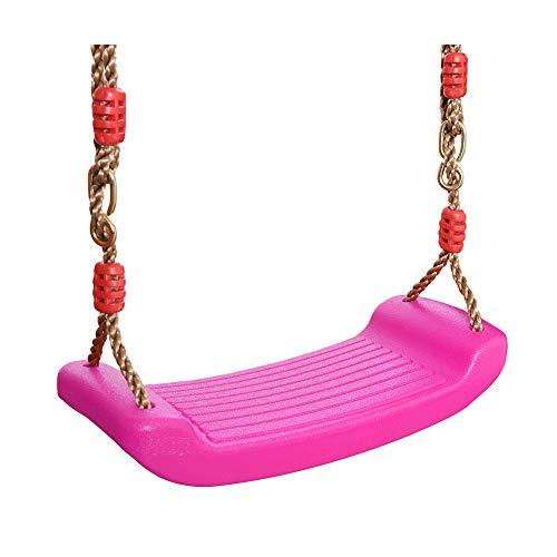 Dell'Oscillazione Curvo Piastra del Sedile per Bambini Altalena Sedia a Dondolo Dondolo in Plastica Hard Seat Swing per Interni Ed Esterni Rosa