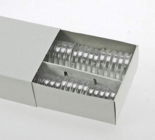 100 x SAFE Münzkapseln CAPS 31 mm / - Ideal für - Münzen - Anlagemünzen - Medaillen - 1 Rubel CU/NI - 10 Mark DDR - 5 CHF Schweizer Franken - Coincaps - Münzenkapseln