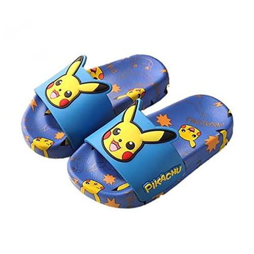 KaO0YaN Diapositives imperméables décontractées Pikachu Pantoufles pour Enfants garçons Filles Sandales à la Maison d'été Salle de Bain Chaussures d'intérieur antidérapantes-3_EU31【19cm】