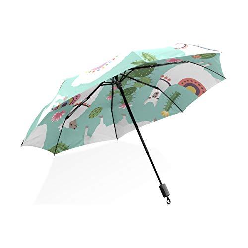 ISAOA Automatischer Reise-Regenschirm,kompakt,faltbar,Mode-niedliches stilvolles personalisiert,Winddicht Stockschirm,Ultraleicht,UV-Schutz,Regenschirm für Damen,Herren und Kinder