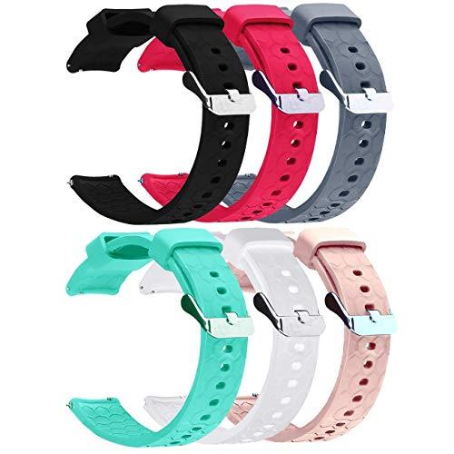 Ruentech Bands Kompatibel mit Fossil Q Damen Gen 4 Venture HR/Fossil Q Damen Gen 3 Venture Touchscreen Smartwatch/Fossil Q Damen Tailor Hybrid Strap Band Silikon-Armband