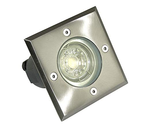 Stainless Steel Recessed Ground Light Spot Outdoor Lamp Bodo 230 Volt gu10 ip67 without LM