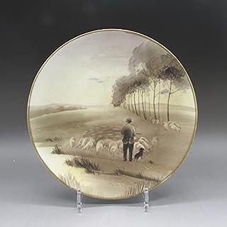 オールドノリタケ:羊飼文飾皿(オランダ画家のアントン・ムーヴの「春」が題材)【近代陶磁の至宝】【u2650】【敬誠】